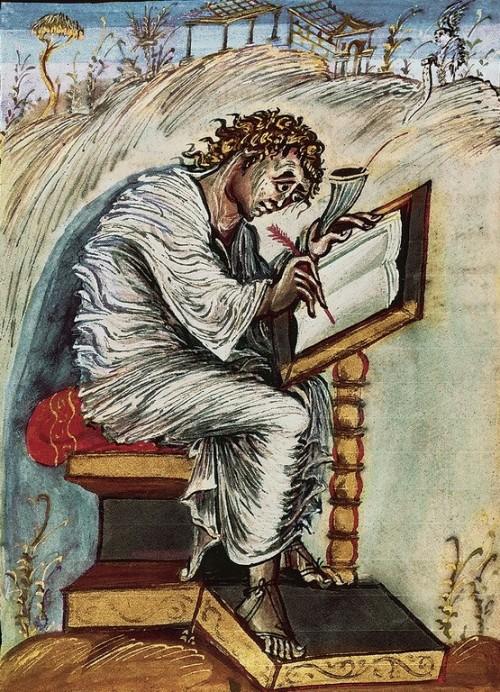 "Giraudon/Art Resource, NY [Public domain], <a href=""https://commons.wikimedia.org/wiki/File:Saint_Matthew2.jpg"" target=""_blank"">via Wikimedia Commons</a>"