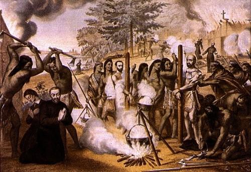 "Les Pères jésuites, Québec [Public domain], <a href=""https://commons.wikimedia.org/wiki/File:Meczennicy_kanadyjscy_1649.jpg"" target=""_blank"">via Wikimedia Commons</a>"