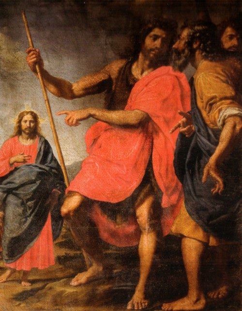 "Ottavio Vannini (1585-c. 1643) [Public domain], <a href=""https://commons.wikimedia.org/wiki/File:Ottavio_vannini,_san_giovanni_che_indica_il_Cristo_a_Sant%27Andrea.jpg""  target=""_blank"">via Wikimedia Commons</a>"