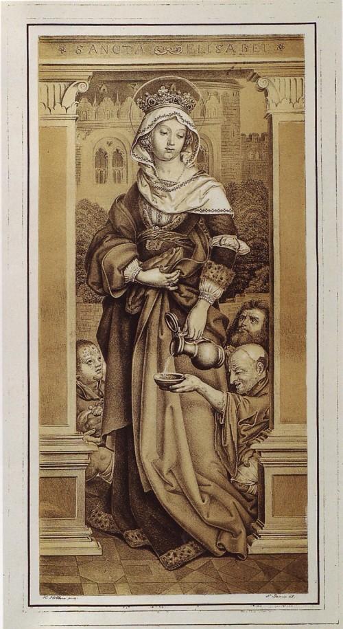 "Hans Holbein the Elder [Public domain], <a href=""https://commons.wikimedia.org/wiki/File:Holbein_St_Elisabeth_Piloty_litho_c1817.jpg""  target=""_blank"">via Wikimedia Commons</a>"