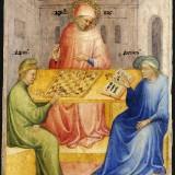 11_Nicolo_di_Pietro._Saint_Augustin_et_Alypius_recoivent_la_visite_de_Ponticianus_1413-15_Musee_des_Beaux-Arts_Lyon