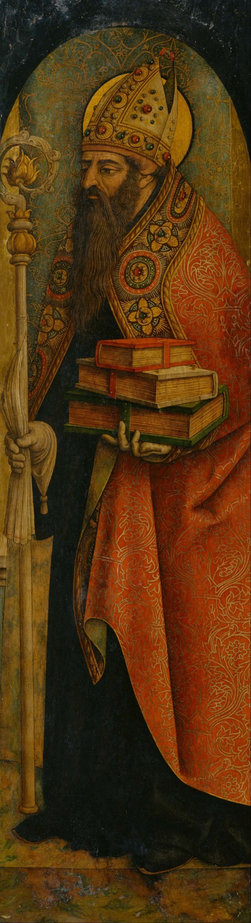 "Carlo Crivelli [Public domain], <a href=""https://commons.wikimedia.org/wiki/File:Carlo_Crivelli_-_St._Augustine_-_Google_Art_Project.jpg""  target=""_blank"">via Wikimedia Commons</a>"
