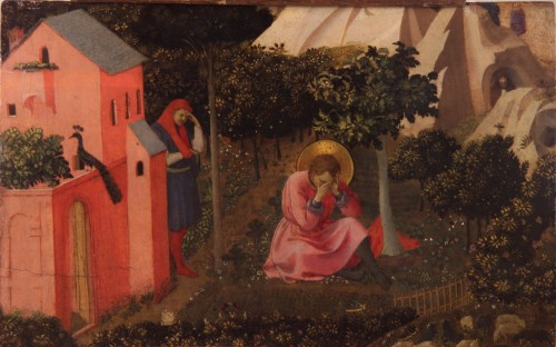 "Fra Angelico and workshop [Public domain], <a href=""https://commons.wikimedia.org/wiki/File:Fra_angelico_-_conversion_de_saint_augustin.jpg""  target=""_blank"">via Wikimedia Commons</a>"
