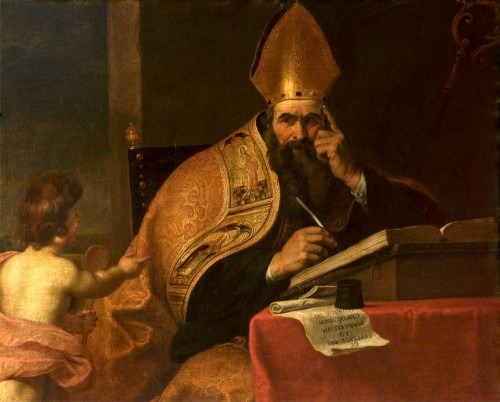 """Attributed to Gerard Seghers [Public domain], <a href=""""https://commons.wikimedia.org/wiki/File:Gerard_Seghers_(attr)_-_The_Four_Doctors_of_the_Western_Church,_Saint_Augustine_of_Hippo_(354%E2%80%93430).jpg""""  target=""""_blank"""">via Wikimedia Commons</a>"""