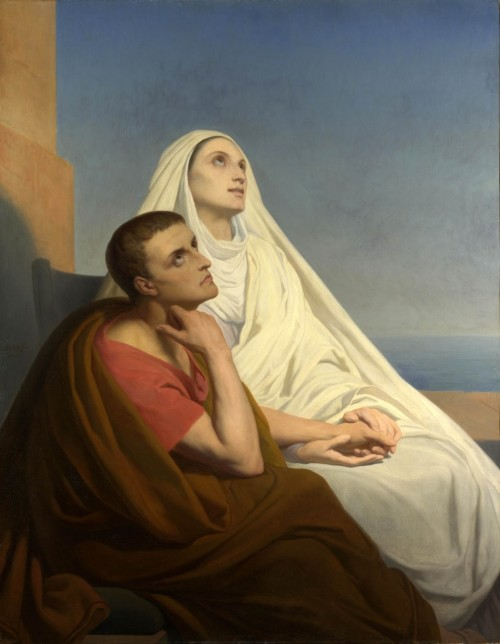 """Ary Scheffer [Public domain], <a href=""""https://commons.wikimedia.org/wiki/File:Saint_Augustine_and_Saint_Monica.jpg""""  target=""""_blank"""">via Wikimedia Commons</a>"""