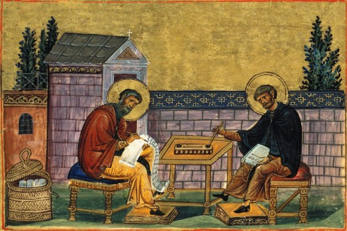 """Menologion of Basil II - AnonymousUnknown author [Public domain], <a href=""""https://commons.wikimedia.org/wiki/File:Menologion_of_Basil_007.jpg""""  target=""""_blank"""">via Wikimedia Commons</a>"""
