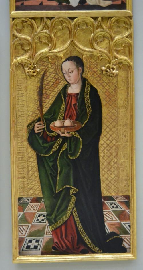 "Francisco de Osona [Public domain], <a href=""https://commons.wikimedia.org/wiki/File:Santa_%C3%80gata,_Francesc_d%27Osona,_Museu_de_Belles_Arts_de_Val%C3%A8ncia.JPG""  target=""_blank"">via Wikimedia Commons</a>"