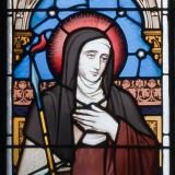 Ballinasloe_St._Michaels_Church_South_Aisle_Seventh_Window_Saints_Teresa_and_Agnes_Detail_Saint_Teresa_2010_09_15