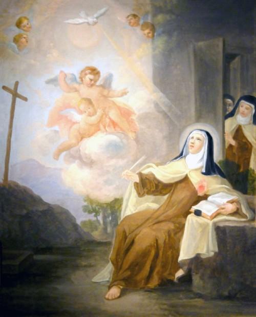 Saint-Denis_93_musee_dart_et_dhistoire_tableau_-_Ste_Therese_en_extase_en_ecrivant_ses_ouvres_et_surprise_par_ses_sours_ecole_fr._XVIIIe_s..jpg
