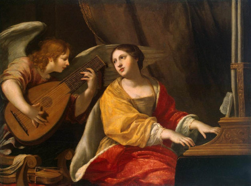 """Jacques Blanchard [Public domain], <a href=""""https://commons.wikimedia.org/wiki/File:Blanchard,_Jacques_-_Saint_Cecilia_-_17th_c.jpg""""  target=""""_blank"""">via Wikimedia Commons</a>"""