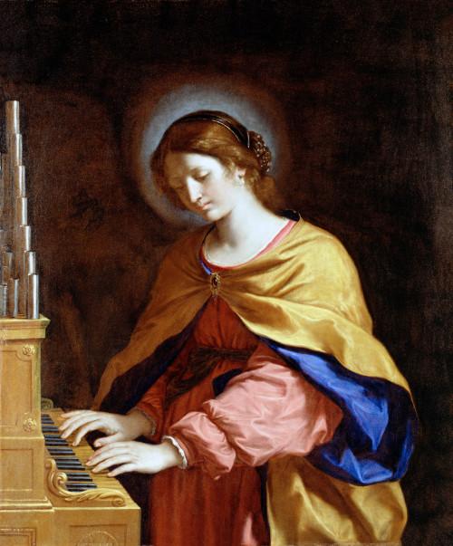 "Guercino [Public domain], <a href=""https://commons.wikimedia.org/wiki/File:Guercino_-_St._Cecilia_-_Google_Art_Project.jpg""  target=""_blank"">via Wikimedia Commons</a>"