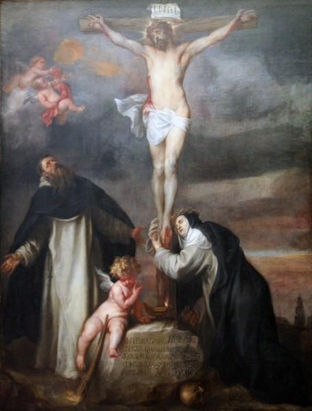 "Anthony van Dyck [Public domain], <a href=""https://commons.wikimedia.org/wiki/File:Anthony_van_Dyck_-_Christus_aan_het_kruis_met_de_heilige_Catharina_van_Siena,_de_heilige_Dominicus_en_een_engel.JPG""  target=""_blank"">via Wikimedia Commons</a>"