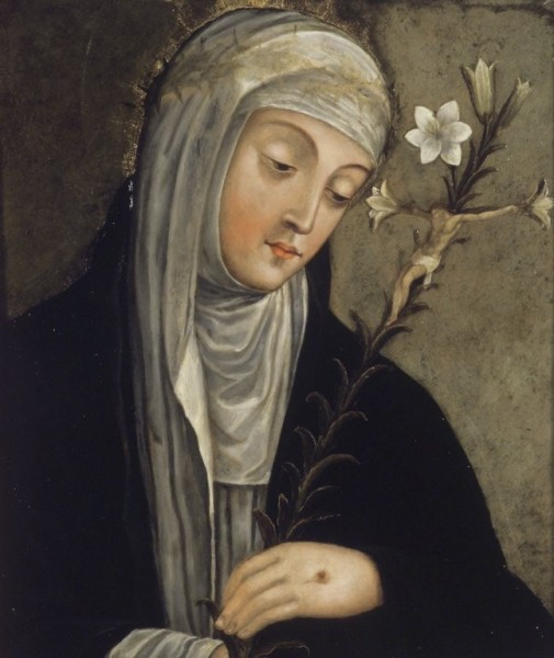 """Brooklyn Museum [Public domain], <a href=""""https://commons.wikimedia.org/wiki/File:Brooklyn_Museum_-_St.Catherine_of_Siena_(formerly_described_as_Santa_Clara)_-_overall.jpg""""  target=""""_blank"""">via Wikimedia Commons</a>"""