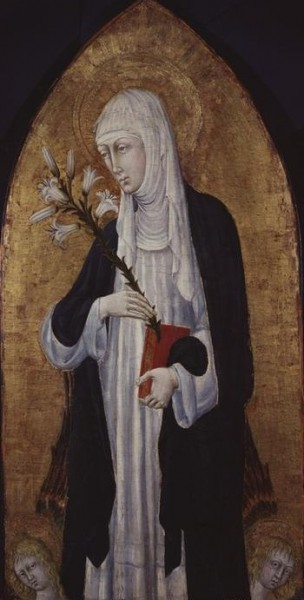 """Giovanni di Paolo [Public domain], <a href=""""https://commons.wikimedia.org/wiki/File:Giovanni_di_paolo,_St_Catherine_of_Siena.jpg""""  target=""""_blank"""">via Wikimedia Commons</a>"""