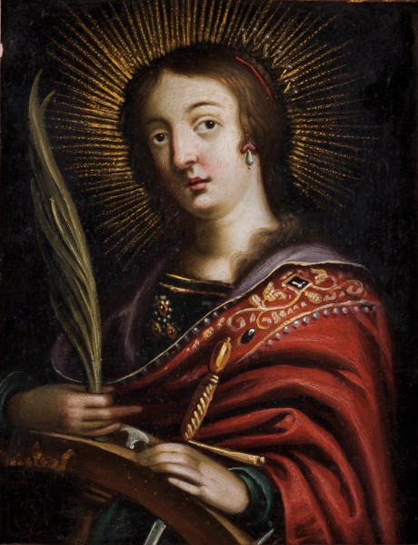 """Veritas Art Auctioneers [Public domain], <a href=""""https://commons.wikimedia.org/wiki/File:Santa_Catarina_de_Siena_(s%C3%A9c._XVII)_-_ap%C3%B3s_Josefa_d%27%C3%93bidos.png""""  target=""""_blank"""">via Wikimedia Commons</a>"""