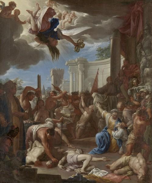 """Francesco Trevisani [Public domain], <a href=""""https://commons.wikimedia.org/wiki/File:Het_martelaarschap_van_de_zeven_broers,_de_zonen_van_de_heilige_Felicitas_Rijksmuseum_SK-A-4995.jpeg""""  target=""""_blank"""">via Wikimedia Commons</a>"""