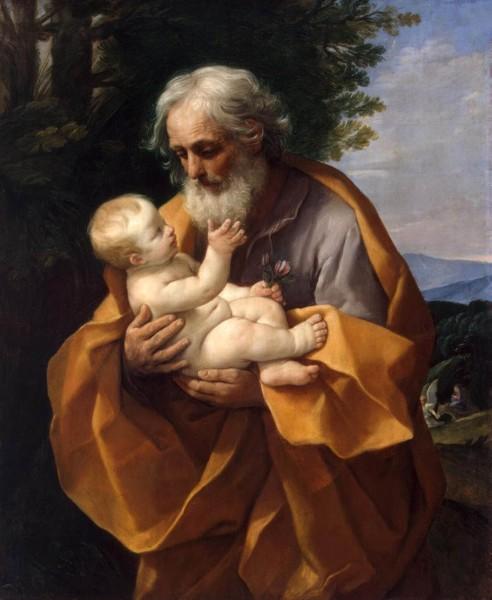 "Guido Reni [Public domain], <a href=""https://commons.wikimedia.org/wiki/File:Guido_Reni_-_St_Joseph_with_the_Infant_Jesus_-_WGA19304.jpg""  target=""_blank"">via Wikimedia Commons</a>"