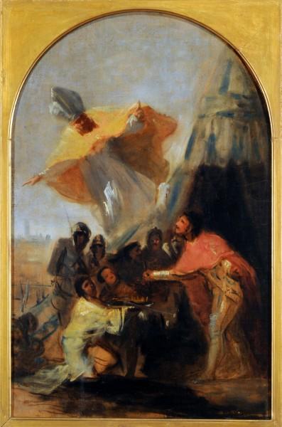 "Francisco Goya [Public domain], <a href=""https://commons.wikimedia.org/wiki/File:Francisco_de_Goya_-_Aparici%C3%B3n_de_San_Isidoro_al_Rey_Fernando_III_El_Santo,_ante_los_muros_de_Sevilla.jpg""  target=""_blank"">via Wikimedia Commons</a>"