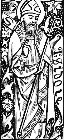 "Clarence Eugene Woodman; The Catholic Publication Society [Public domain], <a href=""https://commons.wikimedia.org/wiki/File:Manualofprayers-017c-isidore.png""  target=""_blank"">via Wikimedia Commons</a>"