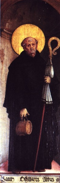 """Master of Messkirch [Public domain], <a href=""""https://commons.wikimedia.org/wiki/File:Heiliger_Othmar.jpg""""  target=""""_blank"""">via Wikimedia Commons</a>"""