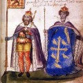 Malcolm_III_and_Queen_Margaret_from_the_Seton_Armorial_1591