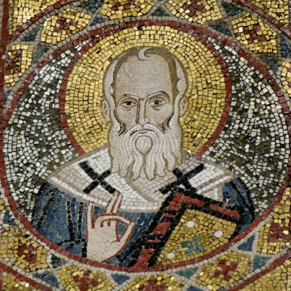 """Jastrow [<a href=""""https://creativecommons.org/licenses/by/2.5"""" target=""""_blank"""">CC BY 2.5</a>], <a href=""""https://commons.wikimedia.org/wiki/File:Gregory_the_Theologian_La_Martorana_Palermo_2008-08-27.jpg"""" target=""""_blank"""">via Wikimedia Commons</a>"""