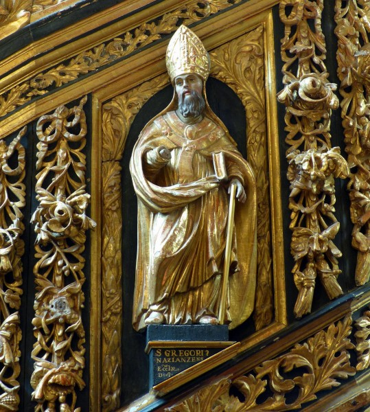 """PawełS [<a href=""""https://creativecommons.org/licenses/by-sa/4.0"""" target=""""_blank"""">CC BY-SA 4.0</a>], <a href=""""https://commons.wikimedia.org/wiki/File:Saint_Gregory_of_Nazianzus,_1693,_basilica,_Dobre_Miasto,_Poland.jpg"""" target=""""_blank"""">via Wikimedia Commons</a>"""