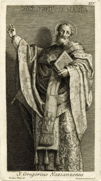 "Francesco Bartolozzi [Public domain], <a href=""https://commons.wikimedia.org/wiki/File:St_Gregorius_Nazianzenus.jpg"" target=""_blank"">via Wikimedia Commons</a>"