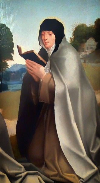 """Saint Colette of Corbie was a French abbess and the foundress of the Colettine Poor Clares, a reform branch of the Order of Saint Clare, better known as the Poor Clares.     <a href=""""https://commons.wikimedia.org/wiki/File:Santa_Clara_e_Santa_Coleta_(c._1520)_-_Mestre_da_Lourinh%C3%A3_(MNAA,_Inv._1823_Pint).png"""" title=""""via Wikimedia Commons"""" target=""""_blank"""">RickMorais</a> [<a href=""""https://creativecommons.org/licenses/by-sa/4.0"""" target=""""_blank"""">CC BY-SA</a>]"""