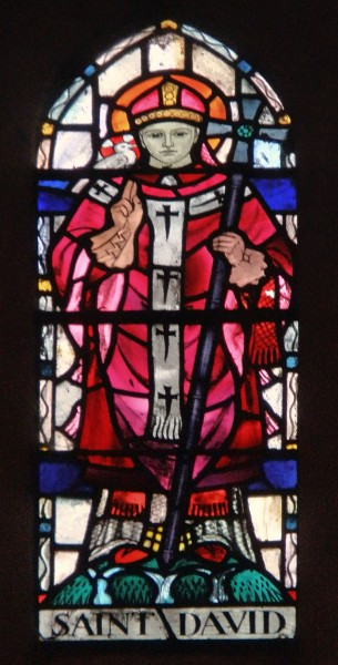 """Saint David is the patron saint of Wales. He was a Welsh bishop of Mynyw (now St.Davids) during the 6th century. He was a native of Wales, and a relatively large amount of information is known about his life.    <a href=""""https://commons.wikimedia.org/wiki/File:All_Saints_Hereford_(37796516322).jpg"""" title=""""via Wikimedia Commons"""" target=""""_blank"""">Amanda Slater from Coventry, West Midlands, UK</a> / <a href=""""https://creativecommons.org/licenses/by-sa/2.0"""" target=""""_blank"""">CC BY-SA</a>"""