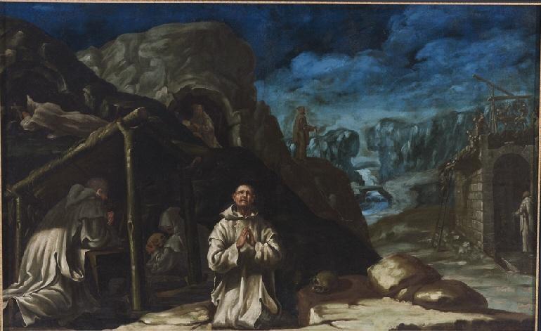 San_Bruno_y_sus_companeros_en_Chartreuse_y_construccion_del_primer_monasterio_de_Manuel_Bayeu_Museo_de_Huesca.jpg