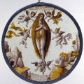 Roundel_with_Mary_of_Egypt_crossing_the_Jordan