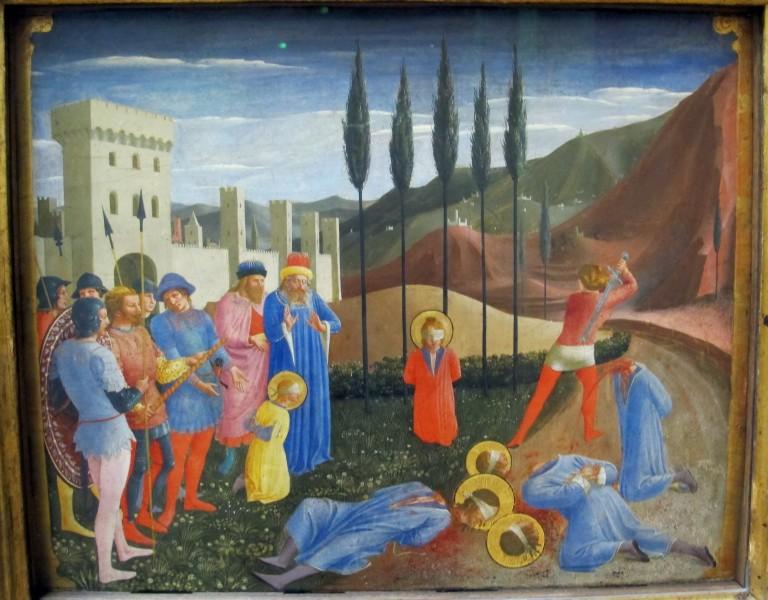 "The Beheading of Saints Cosmas and Damian - Fra Angelico  <a href=""https://commons.wikimedia.org/wiki/File:Fra_angelico,_martirio_dei_santi_cosma_e_damniano,_da_pala_di_san_marco,_1438-1443,_02.JPG"" title=""via Wikimedia Commons"" target=""_blank"">Fra Angelico</a> / <a href=""https://creativecommons.org/licenses/by/3.0"" target=""_blank"">CC BY</a>"