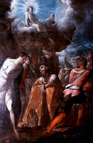 """Martirio di san Dionigi - Cerano, 1616  <a href=""""https://commons.wikimedia.org/wiki/File:Martirio_di_san_Dionigi_-_Cerano.jpg"""">Giovanni Battista Crespi -  Chiesa di San Dionigi, Vigevano</a>, Public domain, via Wikimedia Commons"""